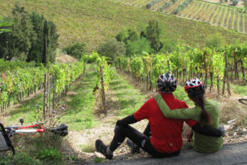 tuscan vineyards cycling trip