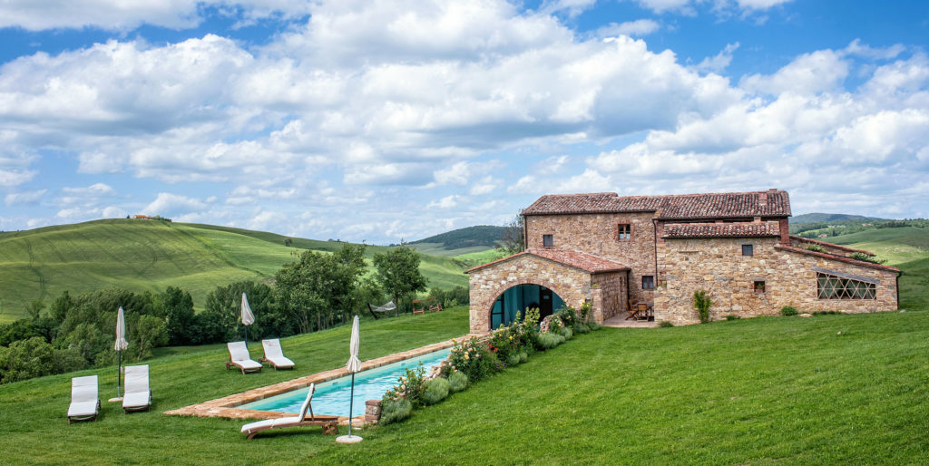 tuscan villa with pool