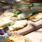 Organic food open market in Pienza