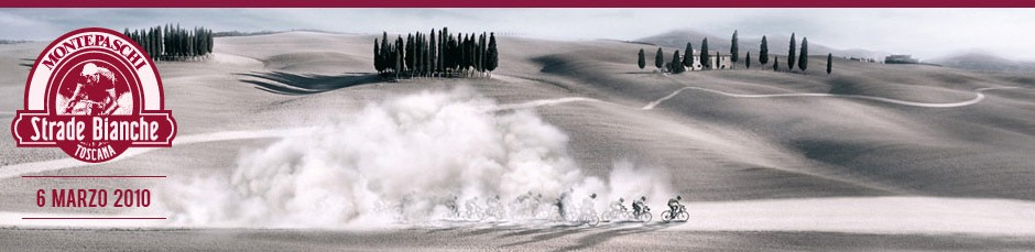 stradebsponsor Strade Bianche race in Tuscany