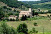 abbey in Tuscany bike trip