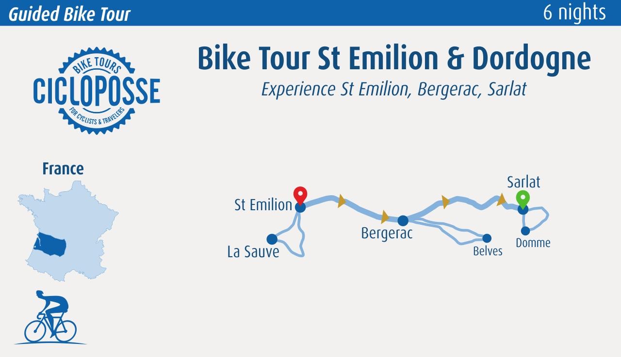 Bike Tour St Emilion & Dordogne