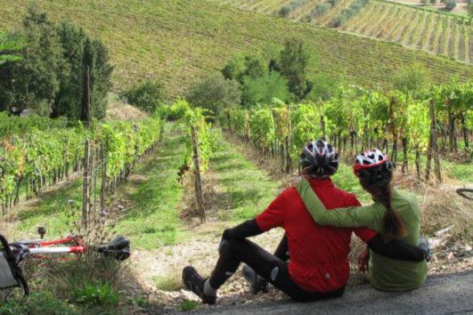 tuscan vineyards cycling trip