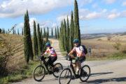 bike ride tuscnay white roads