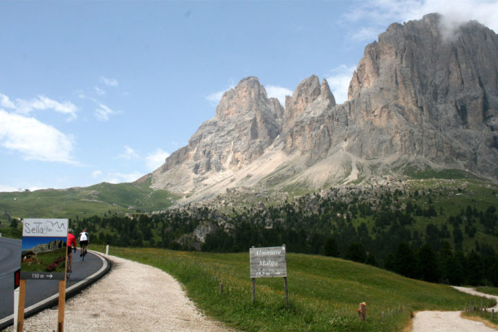 italian alps biking