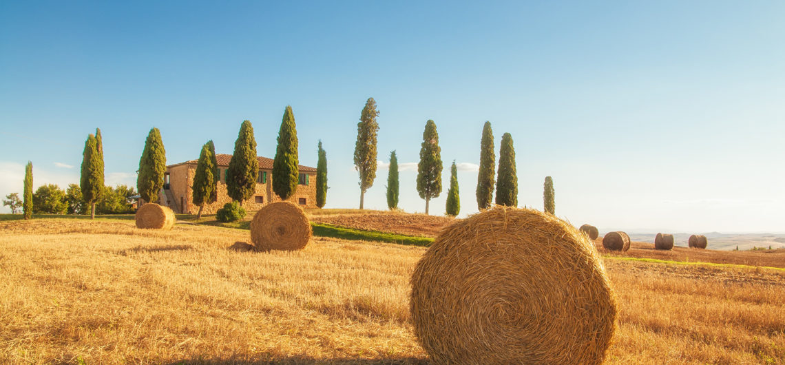 cycling in Tuscany pienza