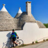 cyclist and trulli