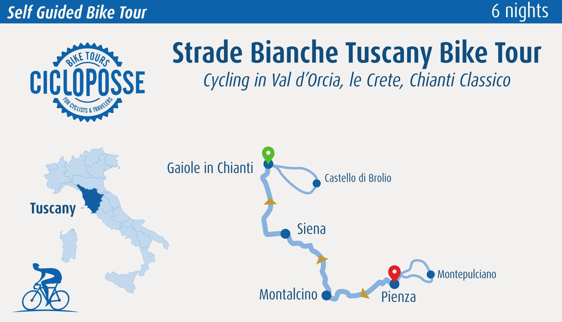 gravel bike tour map