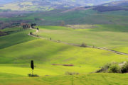 biking on gavel tuscany