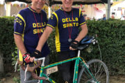 Eroica cyclists in Pienza
