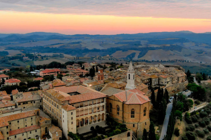 Pienza from the drone