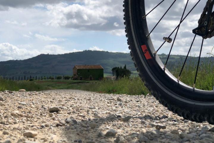 bike ride in beautiful landscape
