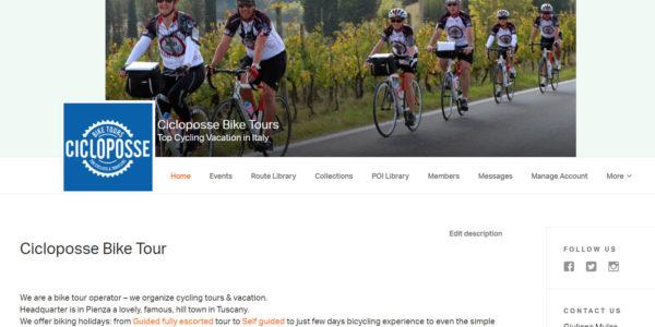 New account at RidewithGPS