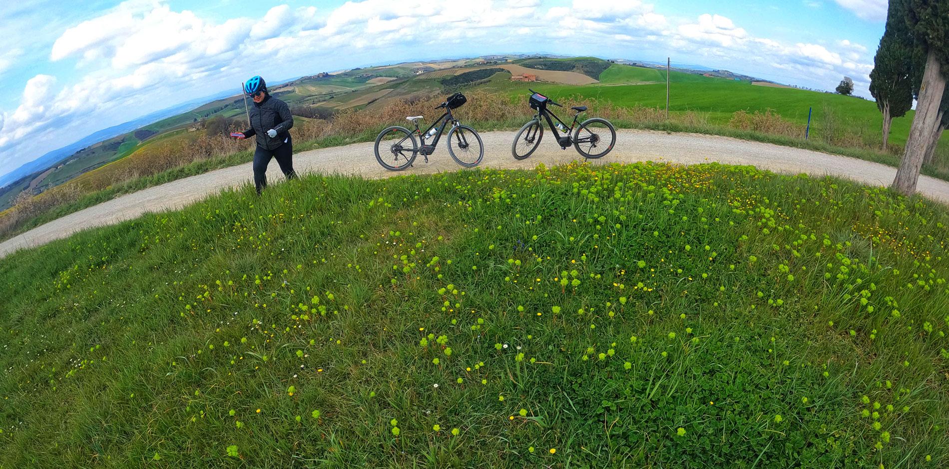 e-bike in Tuscany
